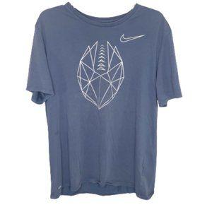 5/$35 Nike Men's Blue Football Tee - XL